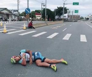 铁人三项国际赛 台湾铁人一哥遭机车擦撞