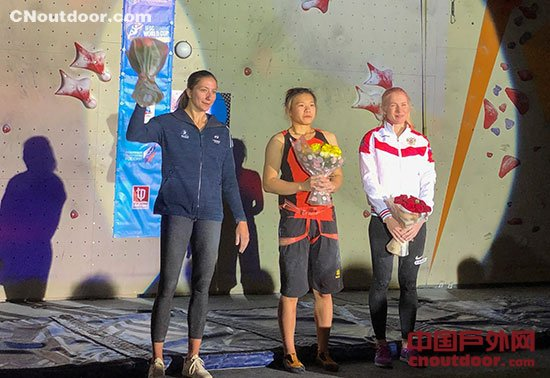 攀岩世界杯莫斯科站宋懿龄速度赛夺冠