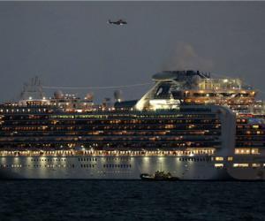 公主号游轮十名游客确诊感染新冠肺炎  3711名游客无法下船